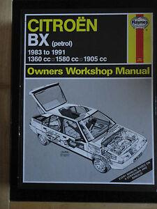 haynes workshop manual citroen bx petrol 83 91 908 ebay rh ebay co uk citroen bx haynes manual Citroen AX