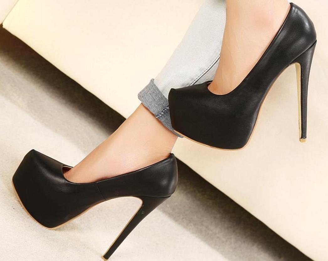 Womens 15cm Platform Pump Nightclub Party Stilettos High Heel shoes Uk 40-44
