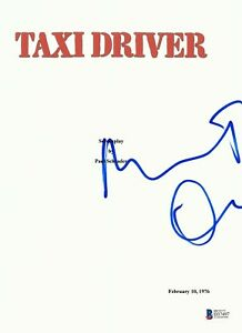 ROBERT DENIRO SIGNED TAXI DRIVER FULL SCRIPT SCREENPLAY AUTHENTIC AUTO BECKETT