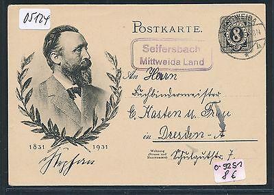 So-ga Upu 1931 Ruf Zuerst Ddr Landpost Ra2 Seifersbach Mittweida Land 05124