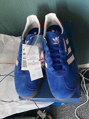 mitología una vez Labe  Adidas Gazelle London To Manchester Blue/Pink UK 9 Deadstock Size?  Exclusive | eBay