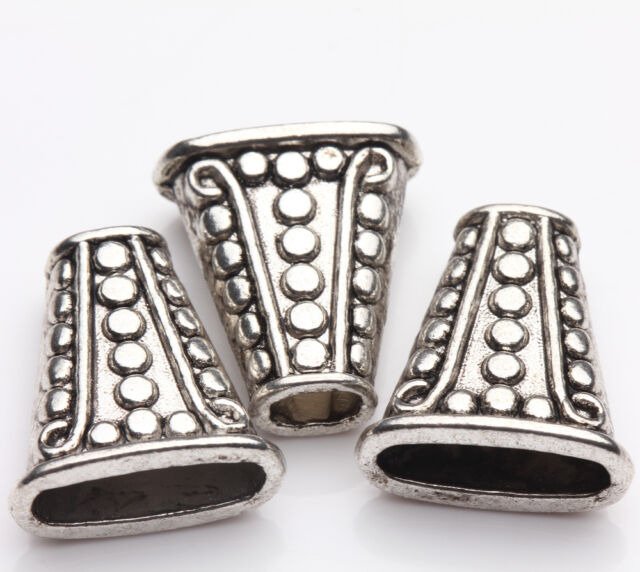 Hot Practical Tibetan Silver Cone Shape End beads Charm Jewelry Findings DIY