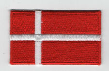 Embroidered DENMARK Flag Iron on Sew on Patch Badge HIGH QUALITY APPLIQUE
