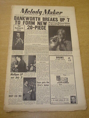 Energiek Melody Maker 1953 June 27 Johnny Dankworth Nelson Williams Mary Lou +