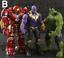 10Pcs-Avengers-3-Action-Figure-Marvel-Captain-America-Spider-Man-Iron-Man-Doll thumbnail 3