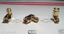 RIGHT ANGLE SMA Male To RP-SMA Female connect SMA to RP-SMA RF Connector Adapter