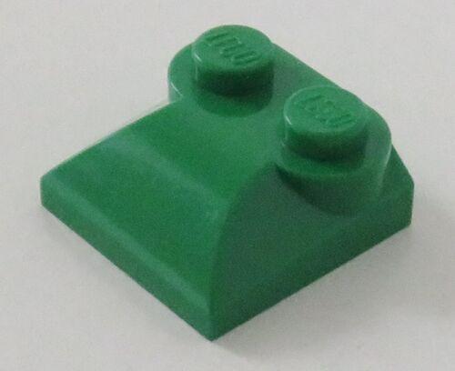 4 St Stein / Brick 2 x 2 x 2/3 mit 2 Noppen LEGO angeschrägt grün # 47457
