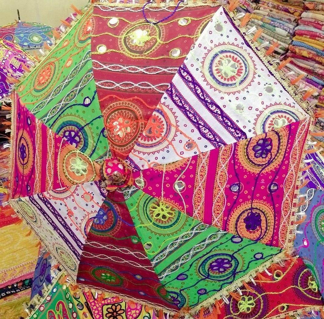 Wholesale Lot Handmade 10 PC Cotton Umbrella Sunshade Wedding Decor Parasols 24