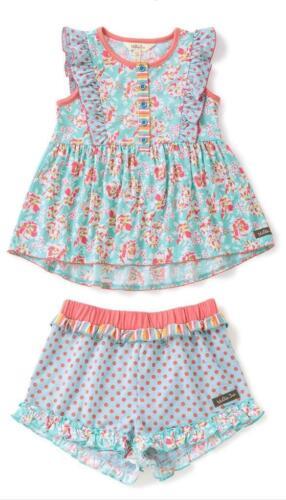 Matilda Jane CRUISE CONTROL Pajama Set Girls Size 6 PJ NWT In Bag Ruffle