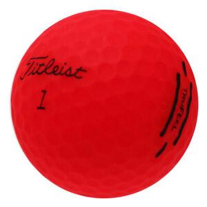 48-Titleist-TruFeel-Matte-Red-Mint-Used-Golf-Balls-AAAAA-In-a-Free-Bucket