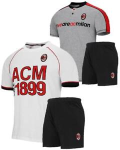 ampia scelta di colori tra qualche giorno 60% economico Dettagli su Pigiama Milan Corto Abbigliamento Bambini Calcio ACM Milan PS  26940