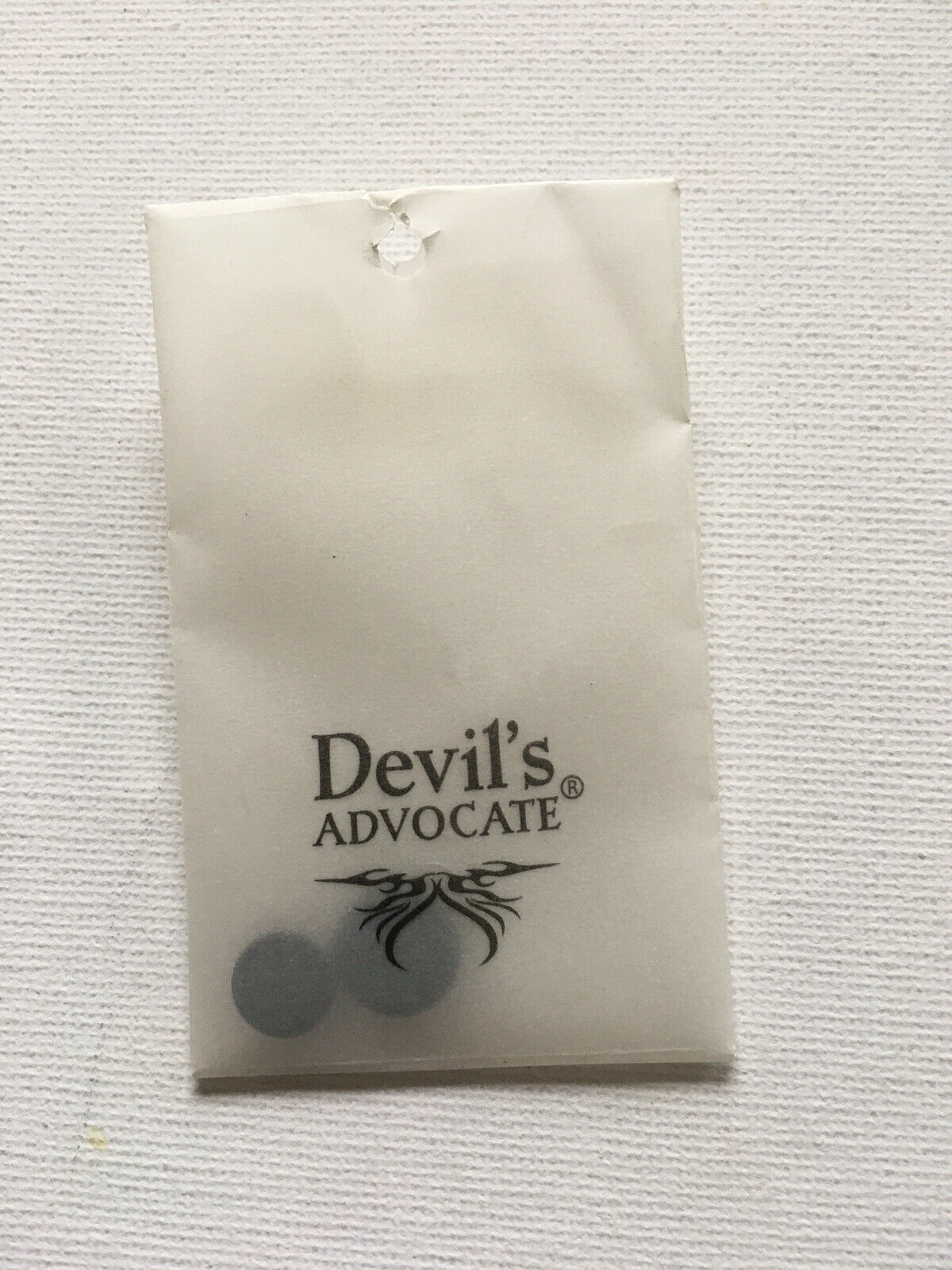 Devils Advocate Shirt Stiffeners And Spare Buttons Black BNWT