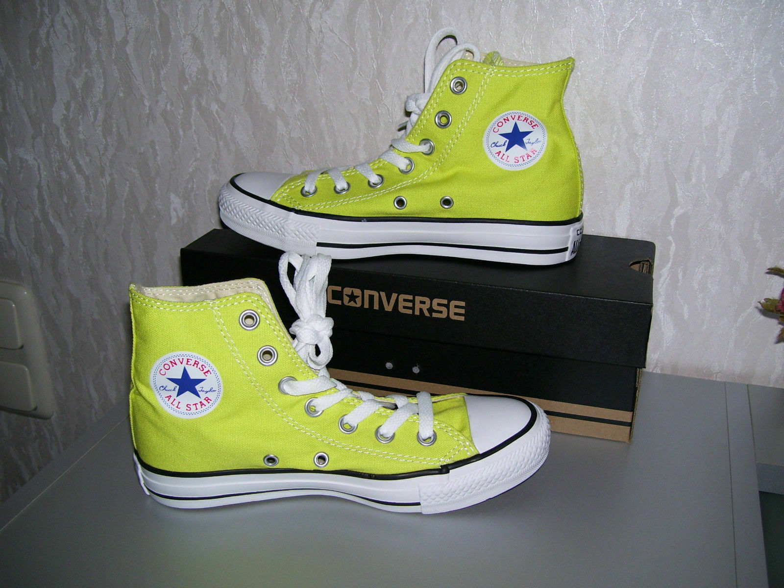 Converse All Star Chucks Taylor hi high Kult zitronengelb gelb citronelle 36 neu
