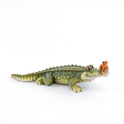 "Chompie The Gator Alligator Eyeing Up A Fish Figurine 4/"" High New In Box!"