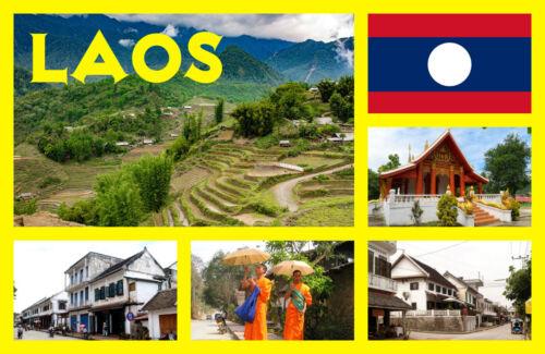 Souvenir Neuheit Kühlschrank-magnet Laos,Asien Sehenswürdigkeiten Geschenk