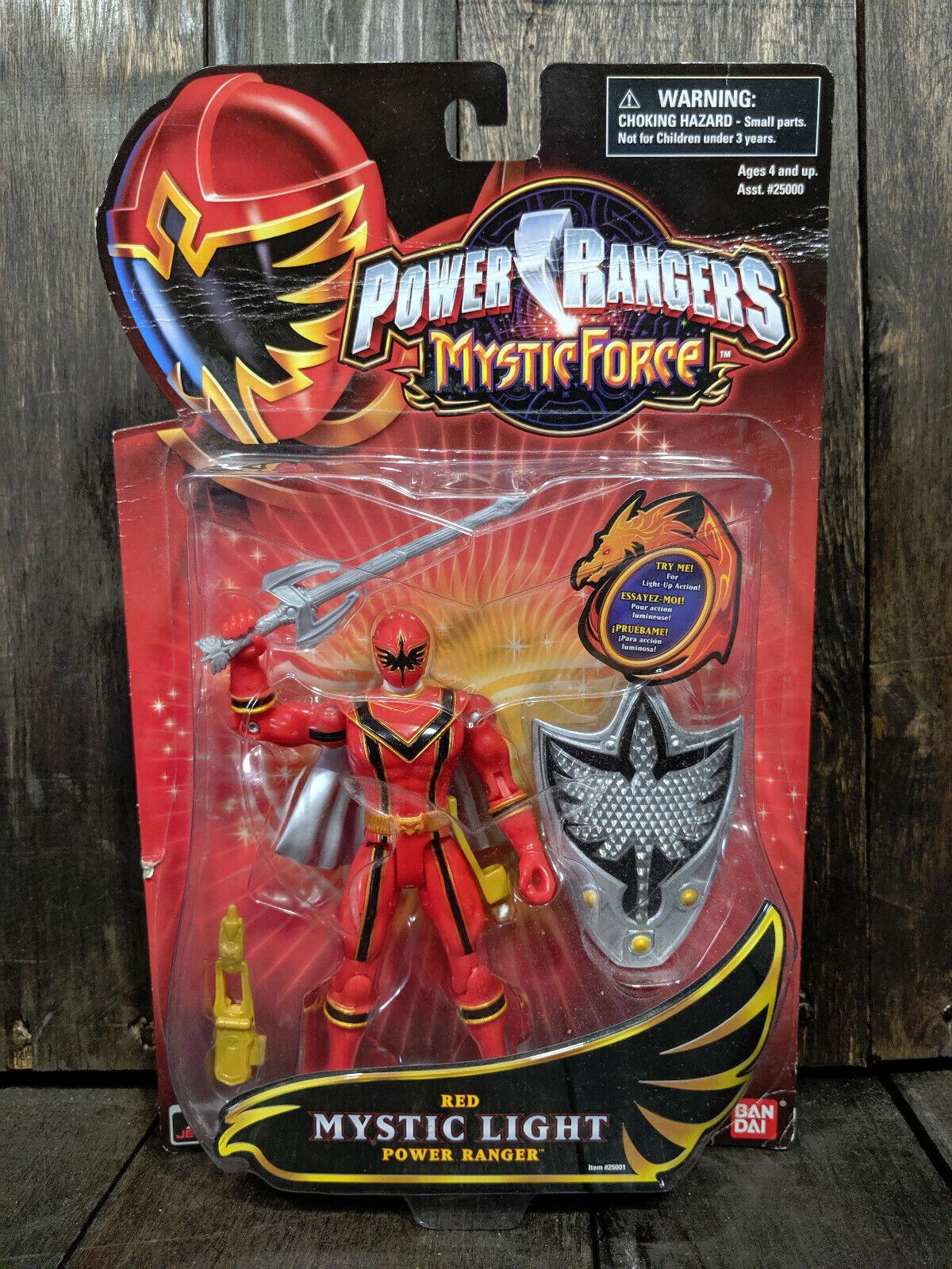 Luz Roja Power Rangers Mystic Force Nuevo en paquete 2006 Rara