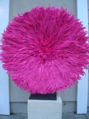 34 Fuchsia / African Feather Headdress / Juju Hat / 1st. Quality / Authentic