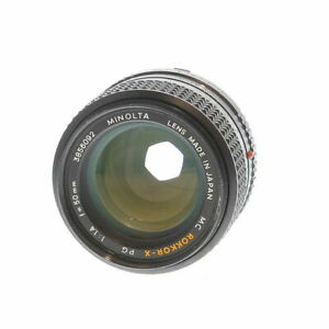 Minolta 50mm F/1.4 Rokkor-X PG MC Mount Manual Focus Lens {55} UG