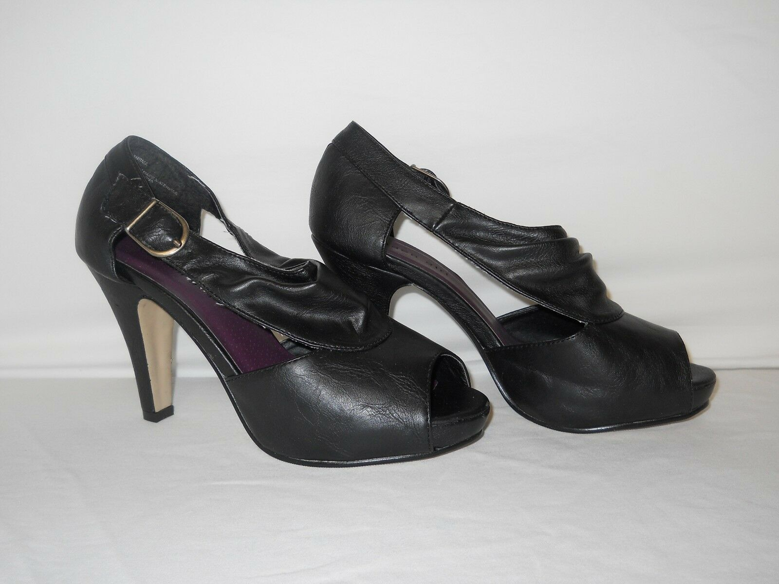 Madden Girl New Womens Kahrma Black Open Toe Heels 7.5 M shoes Steve Madden