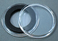 20 Air-tite 18mm Black Ring Coin Holder Capsules For Dimes