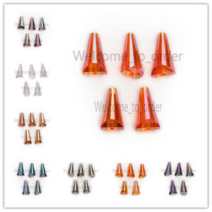10x20mm-Glass-Crystal-Faceted-Pagoda-Bottle-Cap-Teardrop-Beads-Spacer-Crafts-Hot