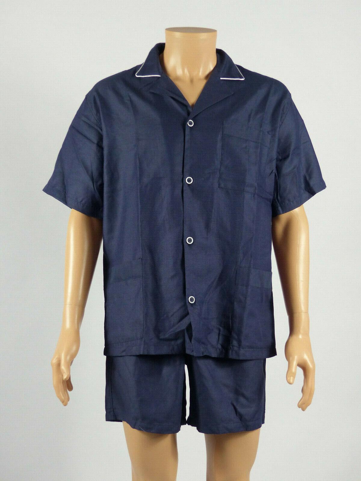 Julipet - Größe L - Herren Pyjamas Luxus Shorts Corto Taip , Farben  Marine