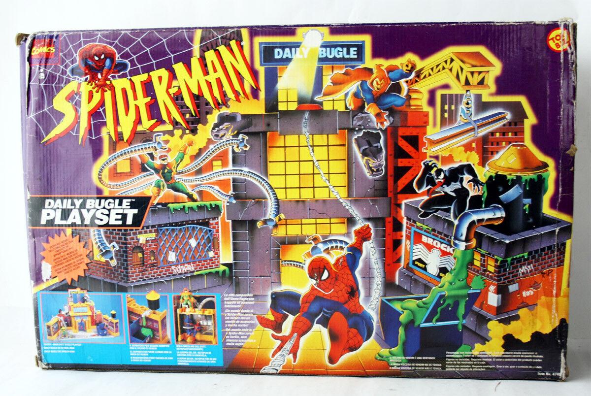 RARE Vintage 1995 UOMO RAGNO Daily Bugle Playset giocattolo BIZ MARVEL nuovi Nuovo di zecca con scatola