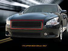 Fits 09-14 Nissan Maxima Stainless Steel Black Mesh Grille Upper Insert Fedar