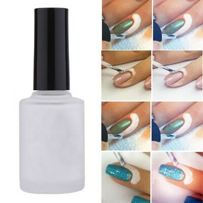Fashion White Peel Off Liquid Nail Art Tape Latex Tape Palisade New Gift 15ml