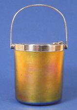 Absolute Rarität - Konfitürenglas / Jampot - Tiffany Favrile und Sterling 12263