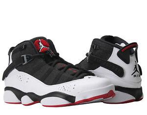 Nike-Air-Jordan-6-Rings-Black-White-Gym-Red-Men-039-s-Basketball-Shoes-322992-012