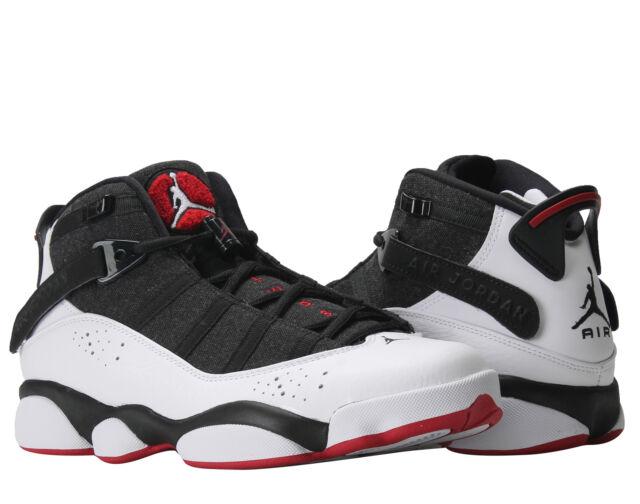 Nike Air Jordan 6 Rings Black/White-Gym Red Men's Basketball Shoes 322992-012