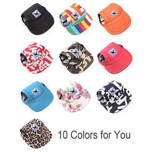 4ff5038e Outdoor Baseball Cap Summer Canvas Puppy Cute Pet Dog Cat Visor Hat ...