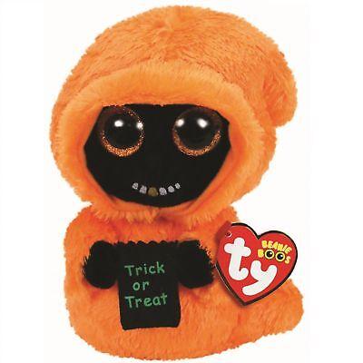 "Set of 2 TY Beanie Boos Halloween 6/"" SKELTON /& GRINNER Orange Ghoul Plush MWMTs"