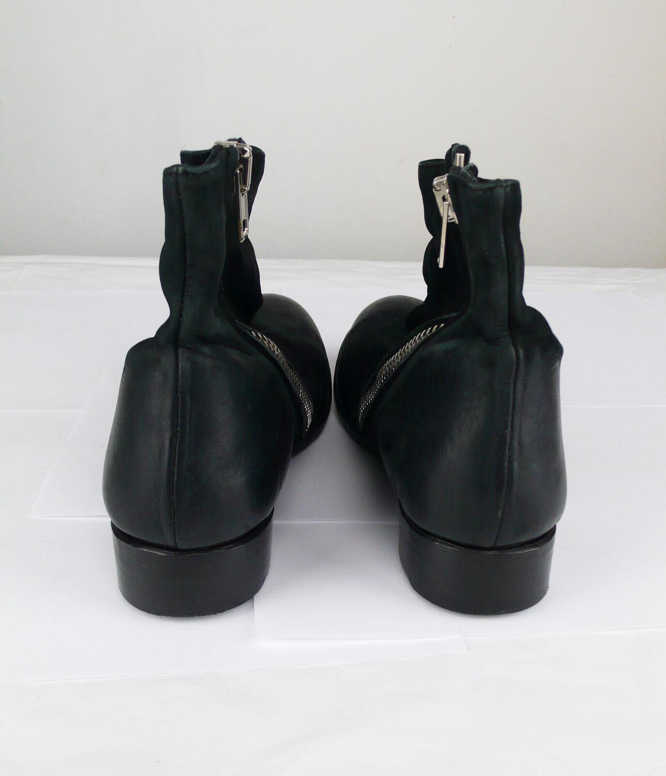 La última conspiración Negro Cuero Para 6.5 Mujeres botas Zapatos, Talla 6.5 Para Nuevo En Caja 0d410f