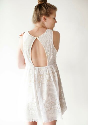 4b67dbd3644b 7 of 8 Free People Rocco Floral Lace Dress in White Size 10 Large NWT  148