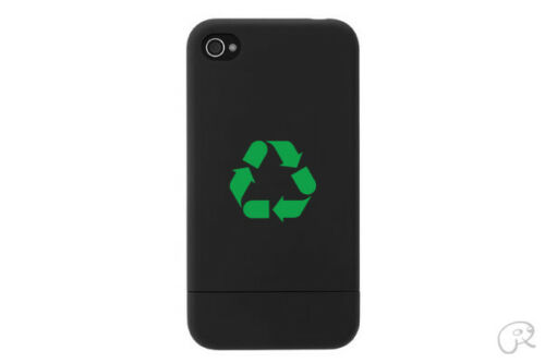 2x Recycle Sticker Die Cut Decal for cell phone mobile