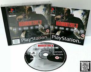 Resident-Evil-3-Sony-Playstation-ps1-Black-Label-PAL-Spiel-ausgezeichnete-CIB