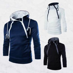 Coat-Sweater-Fit-Hoodies-Warm-Outwear-Sweatshirt-Winter-Jacket-Slim-Hooded-Men-039-s
