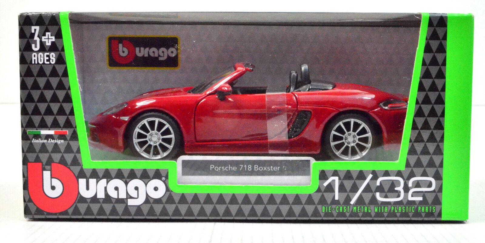Porsche 718 Boxter rot von Bburago Maßstab 1:32