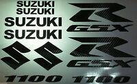 Carbon Fiber Gsxr 1100 10 Piece Decal Set, Suzuki Gixxer Fairing Tank S Tail