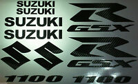 Carbon Fiber Gsxr 1100 10 Piece Decal Set, Suzuki Gixxer Fairing Tank S Tail