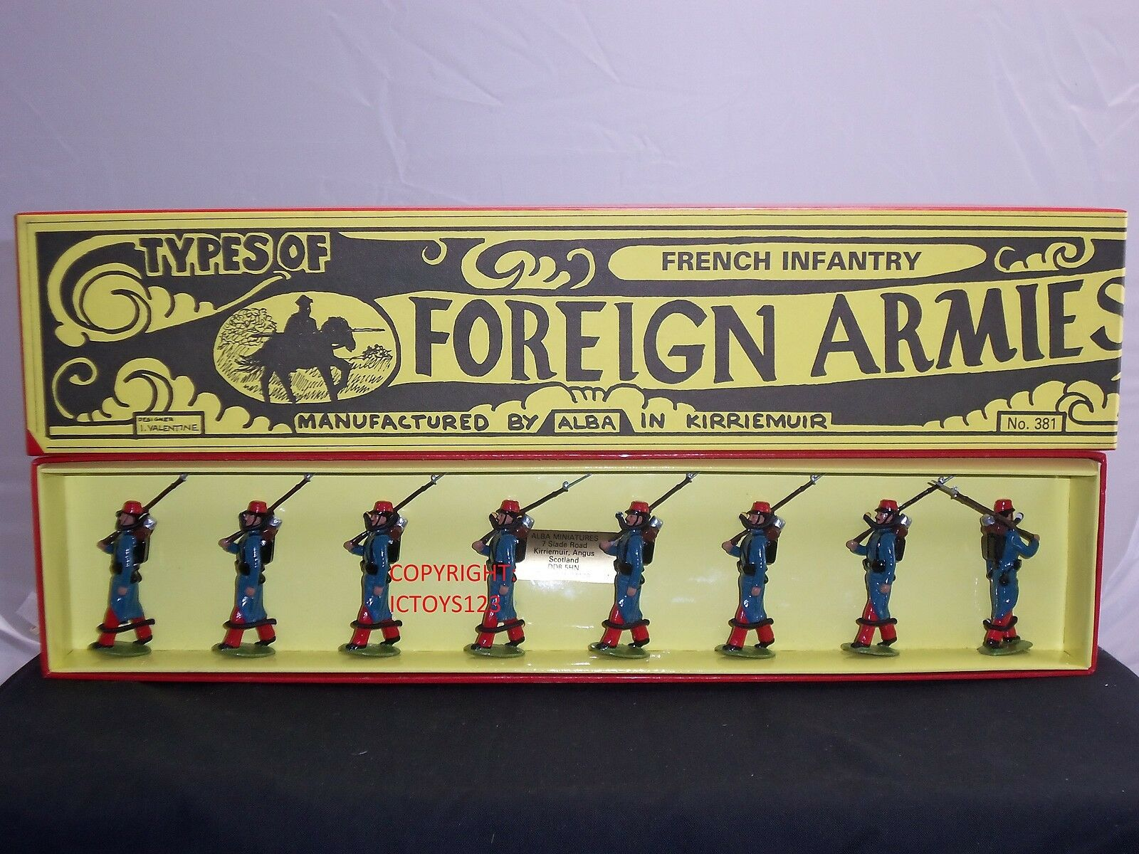 ALBA MINIATURES FRENCH INFANTRY METAL TOY SOLDIER FIGURE SET