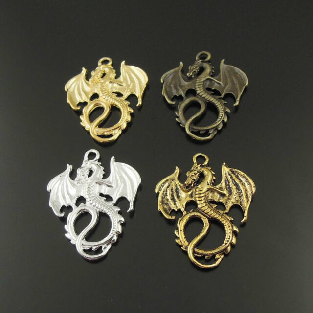 24pcs Mixed Vintage style Dragon Pendant Jewelry Finding Charm Hot  37994