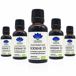Lugols Iodine Solution Liquid Mineral Supplement Choose Size, Percent % Strength