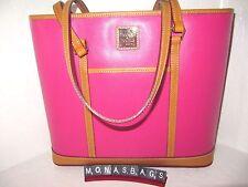 Dooney & Bourke Fuchsia Leather Whitney Claremont Shopper Tote Bag NWT $198