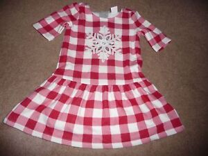 09d3de7fbb3a5 NWT Gymboree North Pole Party plaid and snowflake dress you choose ...