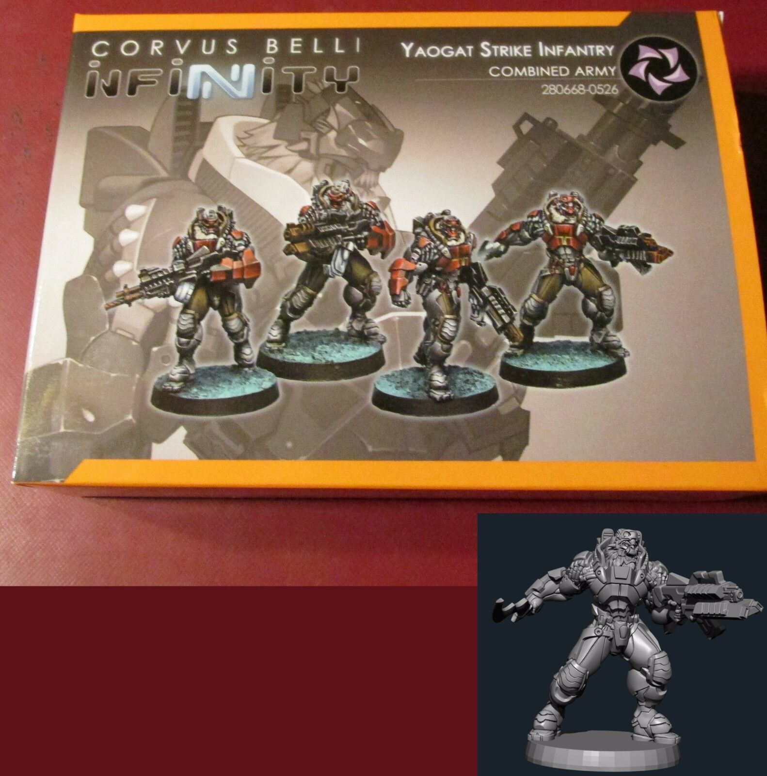Infinity Combined Army Yaogat Strike Infantry (4) 28mm Miniatures Commandos