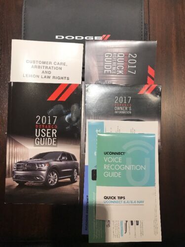 2017 DODGE DURANGO OWNERS MANUAL NEW COMPLETE OEM