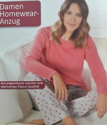 Damen Hausanzug Homewear Schlafanzug Anzug Pyjama 2-Teiler S M L